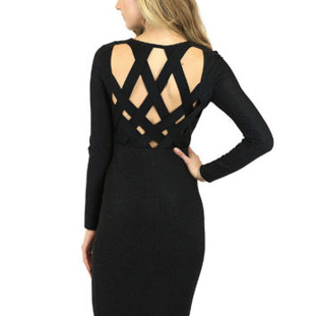 Lily Lattice Back Dress