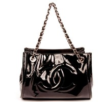 Chanel Black Patent Leather Bowler bag Satchel 5528 (Authentic Pre-owned)