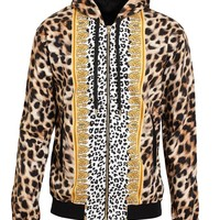 VERSUS | Leopard Printed Cotton Jersey Hoodie | Browns fashion & designer clothes & clothing