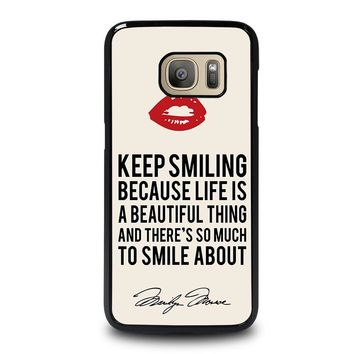 MARYLIN MONROE QUOTES Samsung Galaxy S7 Case Cover