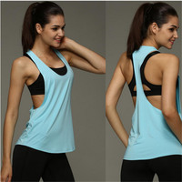 Loose Fitness Workout Tank Top, Multiple Colors