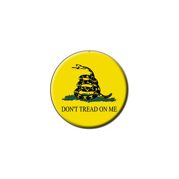 Gadsden Flag Don't Tread On Me Lapel Hat Pin Tie Tack Small Round