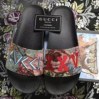 Gucci Woman Men Casual Fashion Sandal Slipper Shoes