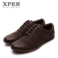 2017 XPER Brand Men Shoes Lace-up Men Casual Shoes Big Size Business Shoes Leisure