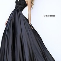 Strapless Sweetheart Sherri Hill Ball Gown