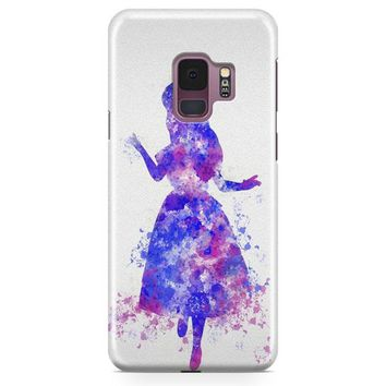 Alice In Wonderland And Tardis Doctor Who Samsung Galaxy S9 Plus Case | Casefantasy