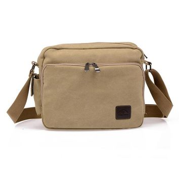 Men's Multifunctional Canvas Messenger Bag
