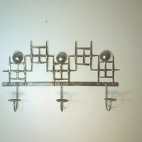 Mid Century Modern Brazed nail votive/tealight wall mounted candle holder