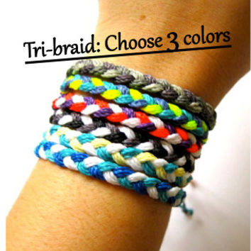 Design your own Braided Bracelet in Waxed Polyester