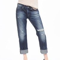 Banana Republic Womens Destroyed Boyfriend Jean