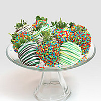 Golden Edibles - Celebration Chocolate Covered Strawberries - Saks Fifth Avenue Mobile