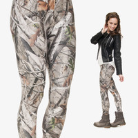new 3d print CAMO TREES leggings for women summer style sport black milk punk rock adventure time  pattern casual leggings