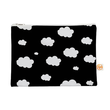 """Suzanne Carter """"Clouds"""" Black White Everything Bag"""