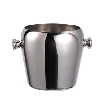 1L double wall stainless steel ice bucket with handle Practical Bar Container Barrel Beer Wine Cooler Champagne Keg  Ice Bucket