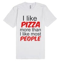 Pizza-Unisex White T-Shirt