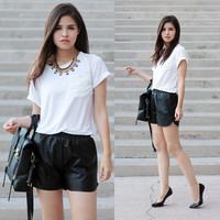 Loose-fit Pleather Shorts from ShopWunderlust