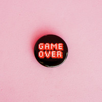 "Game Over • 1"" Button"