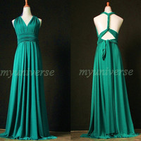 Jade Green Bridesmaid Dress Wedding Dress Infinity Dress Wrap Convertible Dress Formal Dress Junior