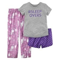Girls 4-14 Carter's Tee, Bottoms & Shorts Pajama Set | null