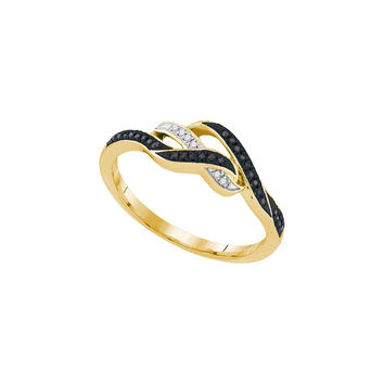 1-10CTW-Diamond MICRO-PAVE BLACK RING