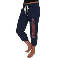 St. Louis Cardinals Ladies Navy Blue Flashback French Terry Capri Pant