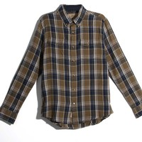 1897 Legends Plaid Button Down Shirt for Men in Green and Navy 130318-91