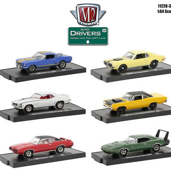 Drivers 6 Cars Set Release 38 In Blister Pack 1-64 Diecast Model Cars by M2 Machines