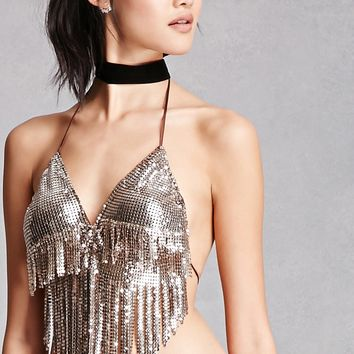 Chainmail Halter Crop Top
