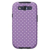 Violet Bellflower And White Medium Polka Dots from Zazzle.com