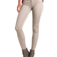 "Refuge ""Hi-Waist Super Skinny"" Colored Jeans - Taupe Combo"