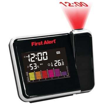 First Alert Weather Station Projection Alarm Clock