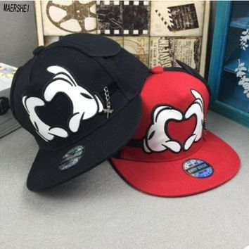 Trendy Winter Jacket MAERSHEI 2018 Children's Hat Big Ears Baby Cap Men and Girls Cute Mickey Baseball Hat AT_92_12