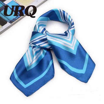 Women Bandanas Silk fashion soft light weight for anytime women square hair and head scarf 60*60cm S6A6147