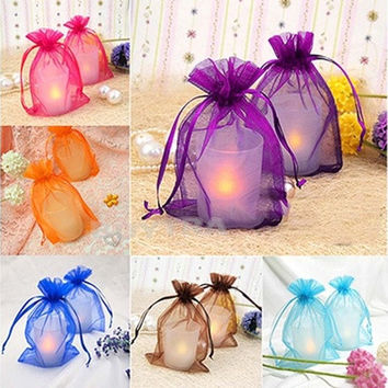 100 pieces Sheer Organza Wedding Party Favor Decoration Gift Candy Pouch Bag(Size: 2.5cm x 3.5cm) KP [7982891591]
