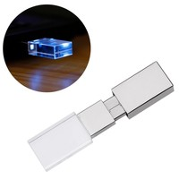 ZTY66 U Disk USB 2.0 | Flash Memory Stick Storage | Capacity: 1, 2, 4, 8, 16, 32, 64GB | Acrylic Luminous U Disk
