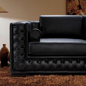 The Dublin, Tufted Leather Sofa Set