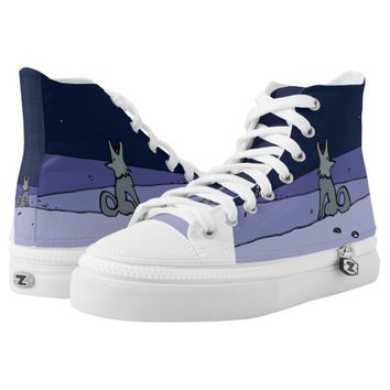Three Dog Night (Navy) High-Top Sneakers