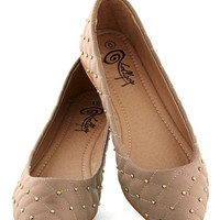 Luxe the Two of Us Flat in Latte | Mod Retro Vintage Flats | ModCloth.com