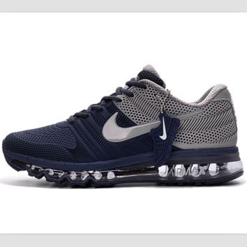 NIKE AIR MAX trend of plastic bottom casual shoes breathable running shoes Dark blue gray