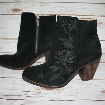 New Lucky Brand Eleanor Suede Bootie Boot (Size US 10)