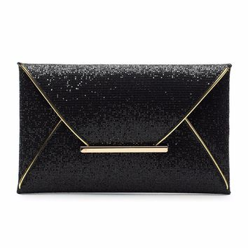 Envelope Clutch Lady Sparkling Dazzling Bag Purse Evening Party Handbag Day Clutches Shining Clutch Large Capacity Wallet