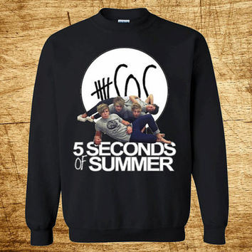5 Second OF Summer 5Sos Album Photo Pop Punk Rock Unisex Crewneck Sweaters 1D