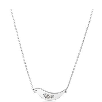 Adina Reyter Small Pave Stacked Dove Necklace