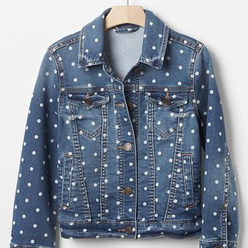 Gap Girls 1969 Dot Denim Jacket