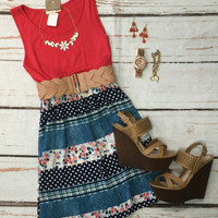 Falling in Love Dress: Coral