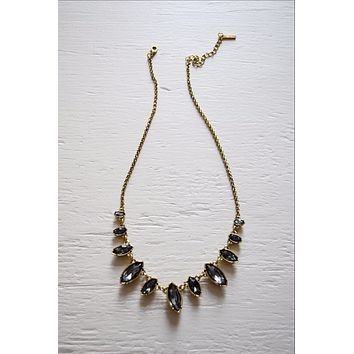 Black Crystals Necklace