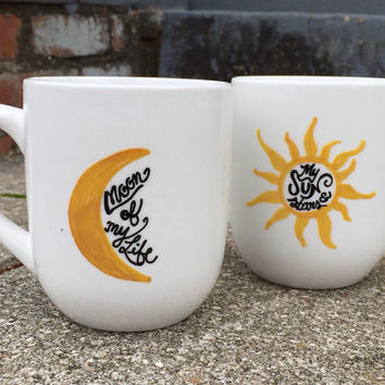 Game Of Thrones Coffee Mug Coffee Cup His and Hers Set My Sun And Stars Moon Of My Life Mug Set Couples Mugs