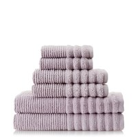 Lintex Linens Boucle Rib Towel Set (Lavender) - 6-piece Set