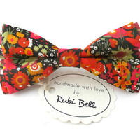 Bow Tie - Liberty London floral bow tie - wedding bow tie - multicolored floral bow tie  - man bow tie - men bow tie