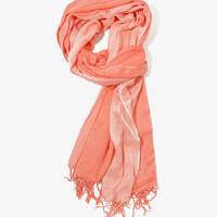 Ombré Sheer-Striped Scarf